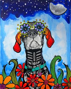 Dog Lover Gifts, Dog Gifts, Dog Lovers, Great Dane Rescue, Dog Pop Art, Dog Skeleton, Dog Artist, Pet Loss Gifts, My Art Studio