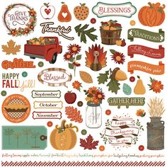 Autumn Orchard Collection Element Stickers by Becky Fleck for PHOTO PLAY PAPER