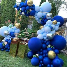 Noble Dark Blue Maca Blue Balloons Garlands Silver Gold Balloon Arch For Birthday Baby Shower Anniversary Party Decor Deco Baby Shower, Fiesta Baby Shower, Boy Baby Shower Themes, Baby Shower Balloons, Shower Party, Baby Shower Parties, Baby Boy Shower, Gold Baby Showers, Baby Shower Gender Reveal