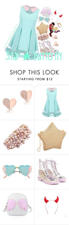 """""""Star Butterfly"""" by janalunamarie23 ❤ liked on Polyvore featuring Anne Sisteron, Judith Leiber and Sophia Webster"""