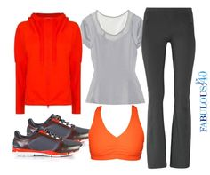 Krishna Orange ladies workout wear