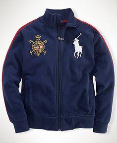 Ralph Lauren Kids Jacket, Little Boys USA Fleece Jacket - Kids Boys 2-7 - Macy's