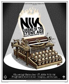 Concert Poster: Nine Inch Nails | Queens of the Stone Age