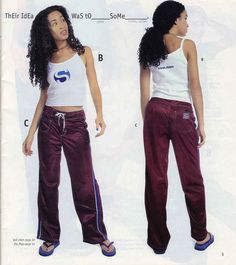 These shiny track pants. | 23 Of The Most '90s Fashions From The Spring '97 Delia's Catalog
