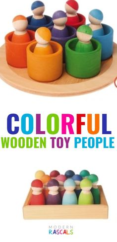 We have a toy people made from a variety of woods – they come in a range of colours, and styles and kids love them. They feel comfortable in little hands and are great for open ended play. They contribute to the development of logical thinking by classifying, grouping and matching elements though colours and/or shapes. They also help improve hand-eye coordination and fine motor skills. Beyond that, they are simply fun to play with. Grimm's Toys, Baby Toys, Toys For Girls, Kids Toys, Wooden People, Toy People, Eco Friendly Toys, Creative Play, Imaginative Play