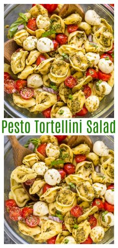 Easy Pesto Tortellini Pasta Salad - Baker by NatureYou can find Pasta salad recipes and more on our website.Easy Pesto Tortellini Pasta Salad - Baker by Nature Pasta Salat, Pesto Pasta Salad, Easy Pasta Salad Recipe, Pasta With Pesto, Cold Pasta Salads, Healthy Pasta Salad, Healthy Salads, Salad With Pasta, Simple Salad Recipes