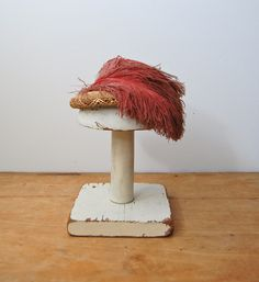 Vintage 1930s Hat - 30s Ostrich & Straw Hat - The Etienne. $62.00, via Etsy.
