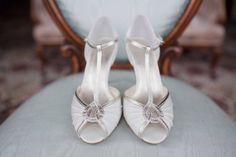 Mimi Satin T Bar Peep Toe Shoes from notonthehighstreet.com