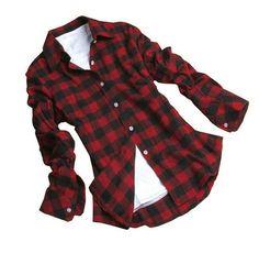 Camisa Xadrez Feminina - Vermelha/Preta