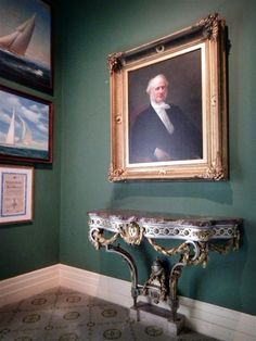 Marble House | Portrait of Commodore Cornelius Vanderbilt, family patriarch, hands in the Newport, RI cottage built by his grandson Wm. K. Vanderbilt for his grandson's first wife Alva Erskine Smith Vanderbilt Belmont.