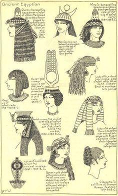 Ancient Egyptian women's fashion.