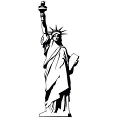 statue of liberty drawing template.html