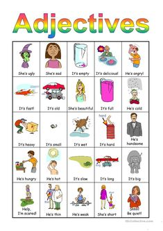 Adjectives Bingo set - English ESL Powerpoints for distance learning and physical classrooms English Adjectives, English Vocabulary, English Grammar, Teaching English, English Fun, English Class, English Lessons, Learn English, Adjectives To Describe Personality