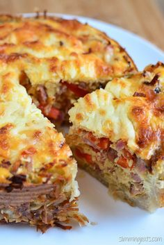 Slimming Eats Red Pepper and Bacon Quiche - gluten free, Slimming Eats and Weight Watchers friendly