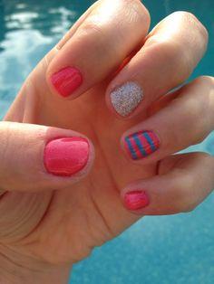 Summer gel nails by Lora :-)