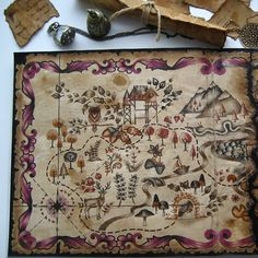 Enchanted forest treasure map