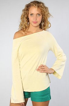 The Off The Shoulder Pullover in Citrine by Chaser
