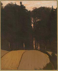 amare-habeo:  Gustav Kampmann (Germab,  1859-1917)   Autumn Evening (Herbstabend), 1900 via  secretcinema1