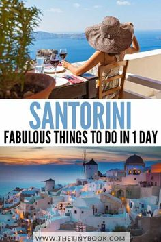 Essential Things to Do in Santorini in One Day | The Tiny Book European Travel Tips, Europe Travel Guide, Europe Destinations, Travel Guides, Greece Itinerary, Greece Travel, Things To Do In Santorini, Santorini Island, Cool Places To Visit