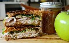 """Sandwich #214: """"Apple Butter Everything"""" Turkey and Cheddar with Apple Butter"""