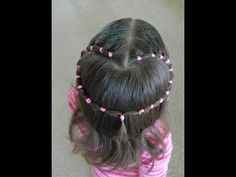 Valentine's pink heart hairstyle / Bonita Hair Do - YouTube