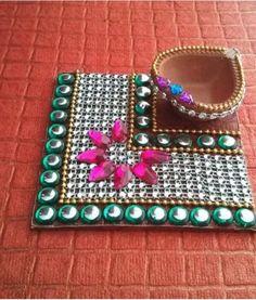 Diya decoration for diwali do it at home and enjoy!!!!!!!!!