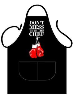 From 8.55 Iconic Aprons Don't Mess With The Chef Apron Polyester-cotton Multi-colour 90 X 69 X 0.1 Cm