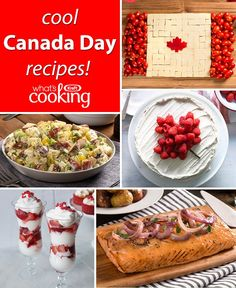 Make your Canada feast incredibly yummy, impressive and easy. Click or tap for our Canada Day Recipes & Ideas. Canadian Food, Canadian Party, Canadian Recipes, Summer Recipes, Holiday Recipes, Canada Day Party, Cooking Recipes, Healthy Recipes, Best Appetizers