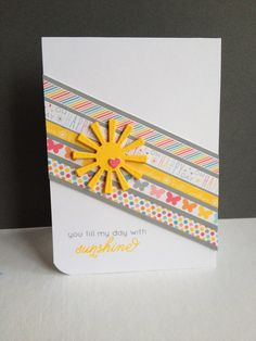 Word Stamp Set: Simon Says Stamp Paper: 6x6 Lawn Fawn Hello Sunshine Die: Lil' Inker Designs