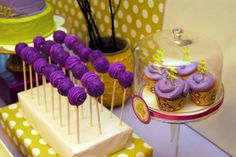 Honeycomb Events & Design: Cuckoo for Cake Pops!  vibrant purple cake pops