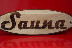"""Bucheholz Schild lasergravur """"Sauna"""" 300x90x5mm"""