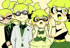 「【スプラトゥーン】緑チームシリーズ~番外編③~」/「NANA」の漫画 [pixiv] #Inkling