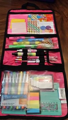 Back school!  Timeless beauty bag is perfect to keep new school supplies organized!