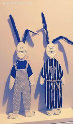 easter hares DIY >> niuansik.blogspot.com