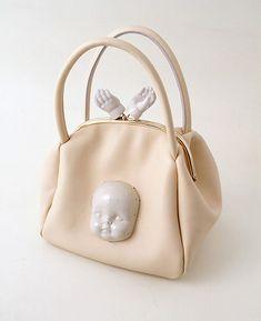 13600006449-mirach-m-04-dl Weird Fashion, Diy Fashion, Fashion Bags, Creative Shoes, Unique Purses, Old Dolls, Doll Parts, Creepy Cute, Doll Head