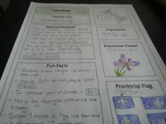 Discover Canada: Graphic Organizer Research Activity Worksheets Middle School Geography, Geography For Kids, Teaching Geography, Teaching History, Teaching Social Studies, Teaching Aids, Geography Worksheets, Discover Canada, 5th Grade Teachers