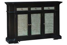 Shabby 3-Door Narrow Sideboard, Black on OneKingsLane.com