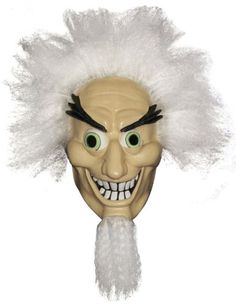 Mad Scientist Mask - Click image twice for more info - See a larger selection of wigs at http://costumeriver.com/product-category/wigs/- Halloween, events, holiday , halloween ideas, artificial hair, scary wigs, funny wigs, gift ideas