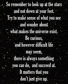 it matters that you don't give up // stephen hawking #strong #keepgoing