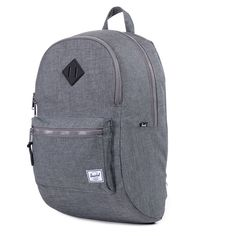 Herschel Supply Co.: Lennox Backpack - Charcoal Crosshatch / Black Rubber