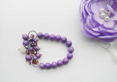 Purple Turquoise Stretch Bracelet