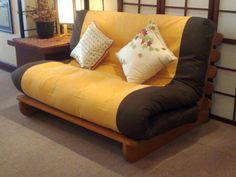 comfortable convertible bed designs in yellow