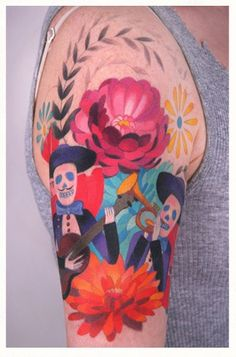 holy cow. this tattoo is AMAZING. Mexican art tattoo