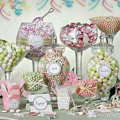 Our lolly buffets offer a wide variety of lollies and chocolates that your guests are sure to love. Candy Buffet Tables, Dessert Buffet, Dessert Bars, Pink Candy Buffet, Dessert Tables, Candy Bar Decoracion, Candy Bar Wedding, Lolly Buffet Wedding, Sweet Carts