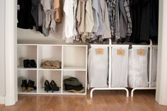 Our master walk in needs some love. how we organized our small bedroom, bedroom ideas, closet, organizing, storage ideas Small Apartment Organization, Linen Closet Organization, Organizing Ideas, Storage Organization, Closet Storage, Storage Drawers, Apartment Ideas, Diy Projects For Bedroom, Bedroom Ideas