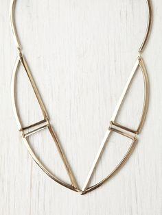 Free People Bentuk V Bronze Necklace