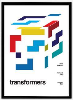 スイスデザイン風にリメイクされた有名映画のポスターアート - K'conf