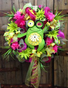 Toadly Spring Wreath by WilliamsFloral on Etsy, $95.00