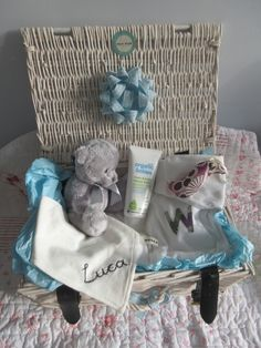 Brand New! These bespoke organic Baby Hampers are totally unique and… Baby Hamper, Unique Baby Gifts, Hampers, Organic Baby, Laundry Basket, Bespoke, Wicker, Handmade, Home Decor