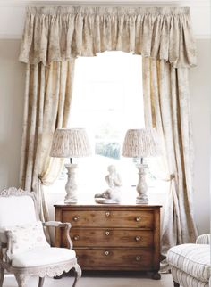 I love to make a feature of curtains in the living room, the more dramatic the better!